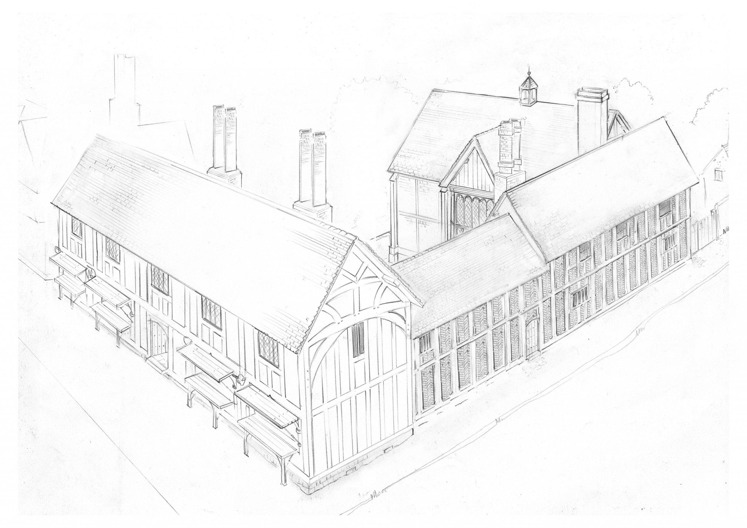Hugh Clopton's New Place. Copyright Phil Watson.